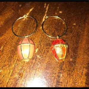 2 Faberge eggs enamel 14k gold plated new w/ ringsBoutique, used for sale